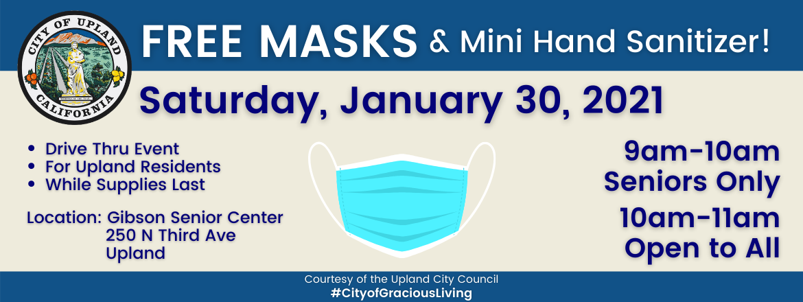 Slide: Free Masks  Mini Hand Sanitizer! Rotator Banner.png