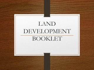 Land Development Booklet
