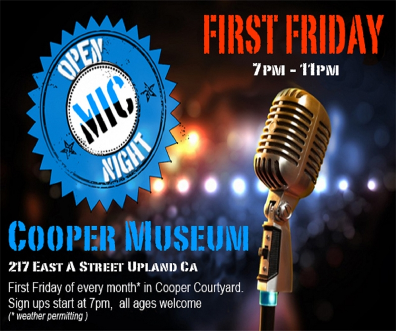 Cooper Museum Open Mic Night!
